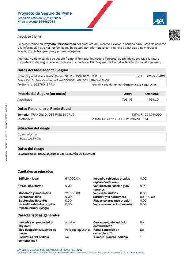 proyecto seguro gasolinera low cost
