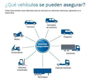 que vehiculos se pueden asegurar